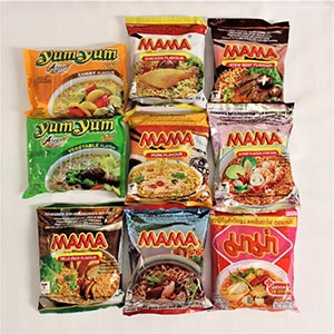 Selection of Instant Noodles