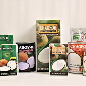 Selection of Coconut Milk